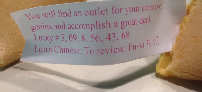 Fortune cookie that reads
