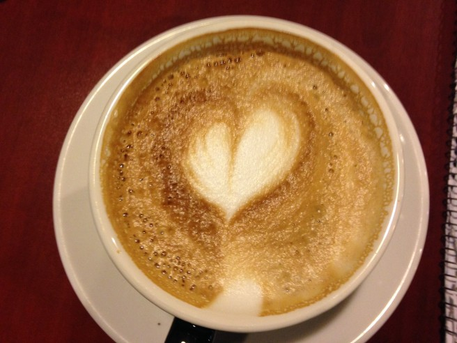 Coffee with heart.
